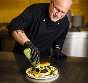 Zubereitung vom Burger